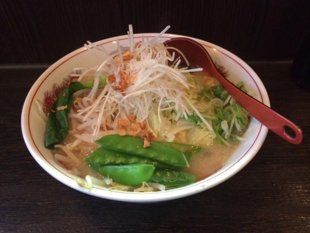 Gemüse-Miso-Ramen und Gyoza