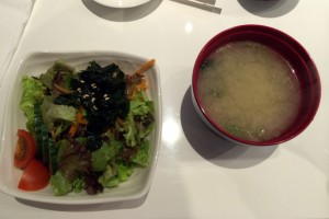 Salat und Miso-Suppe im Sushi Se - Update zu Japan in München: Sushi, Suppen, Shopping & mehr
