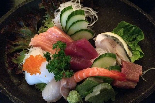 Abendessen im Mitani – Leckeres Sashimi