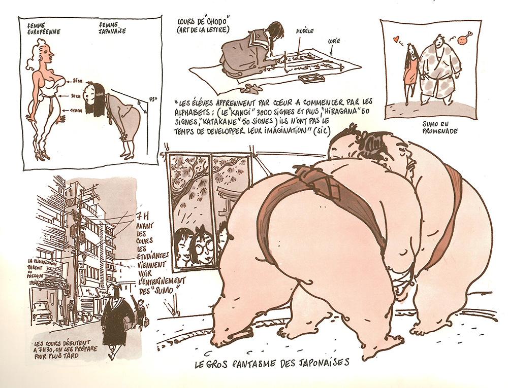 Eindrücke gezeichnet von Tignous - Quelle: Institut français du Japon