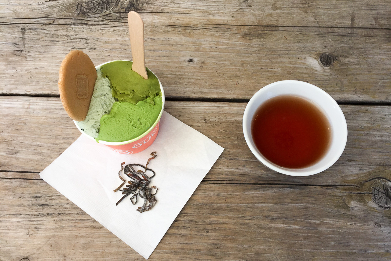 Matcha-Eis-Challenge in Japan